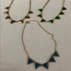Triangle statement necklaces